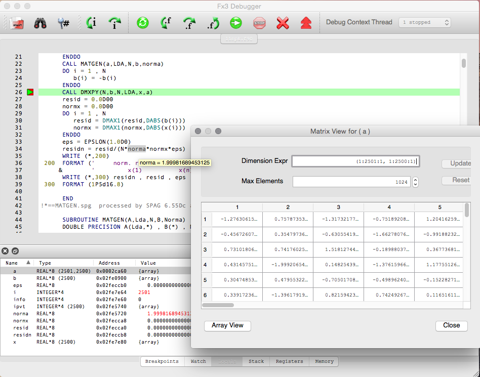 Absoft Fx3 Source Level Debugger